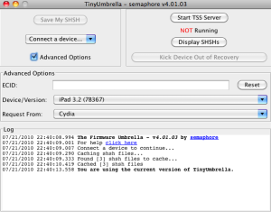 tinyumbrella pour iphone 3gs ios 4.1